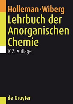 Holleman, Wiberg: Lehrbuch der Anorganischen Chemie