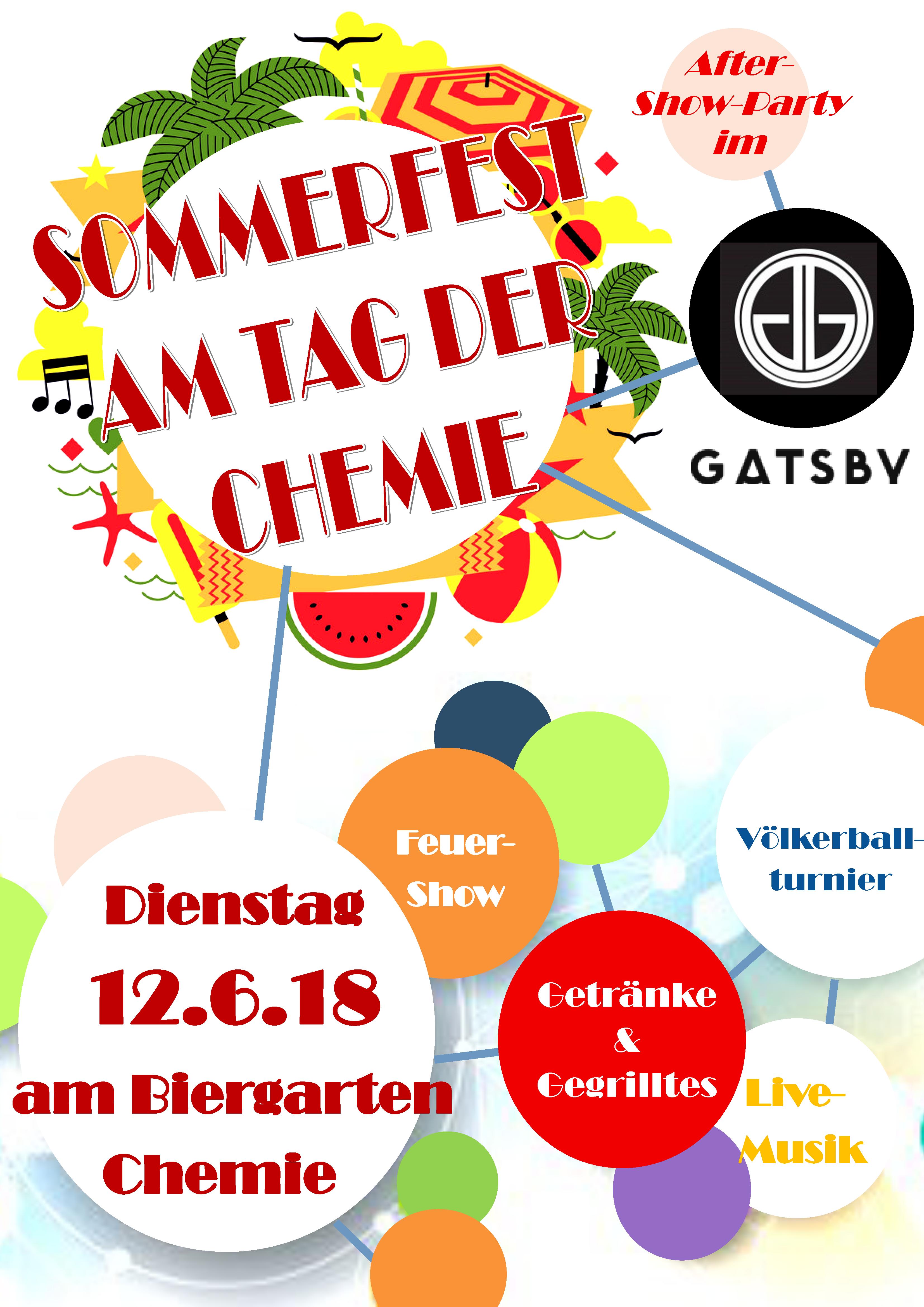 Sommerfest am Tag der Chemie 2018 - 12. Juni 2018